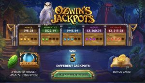 Ozwin's Jackpot Slots Payable