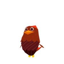 Birds on a Wire - Brown Hen