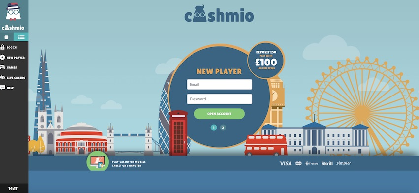 Cashmio Home Page