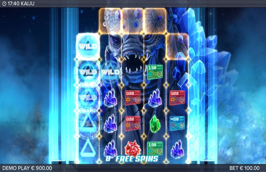 Kaiju Slot Bonus Round Screen