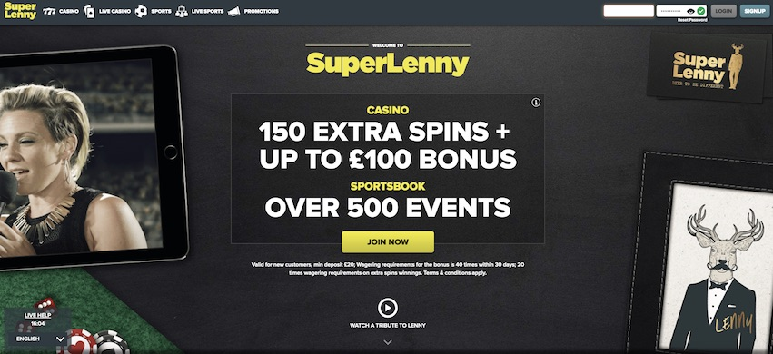 SuperLenny Casino - Join Today