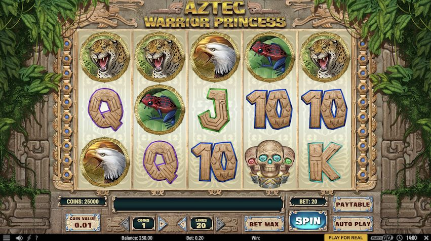 Aztec Warrior Princess Slot by Play n Go