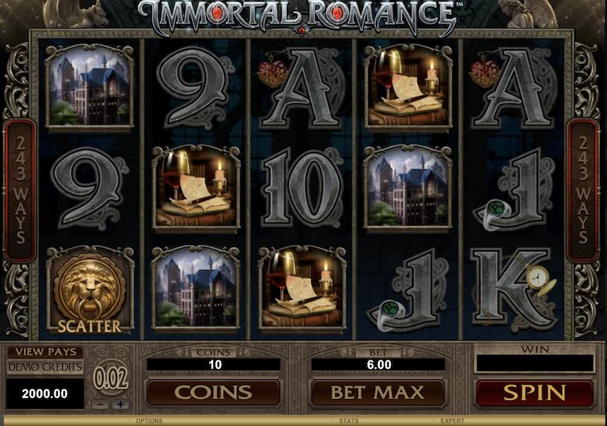 Immortal Romance High Variance Slot by Microgaming