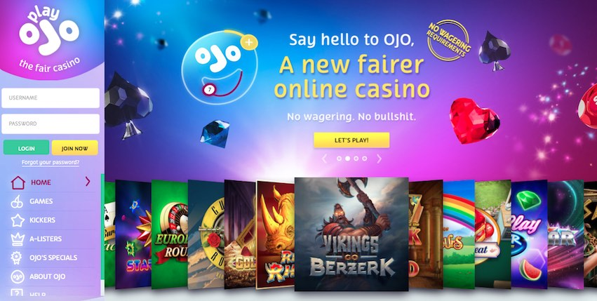 PlayOJO - a Slots Magic Sister Site