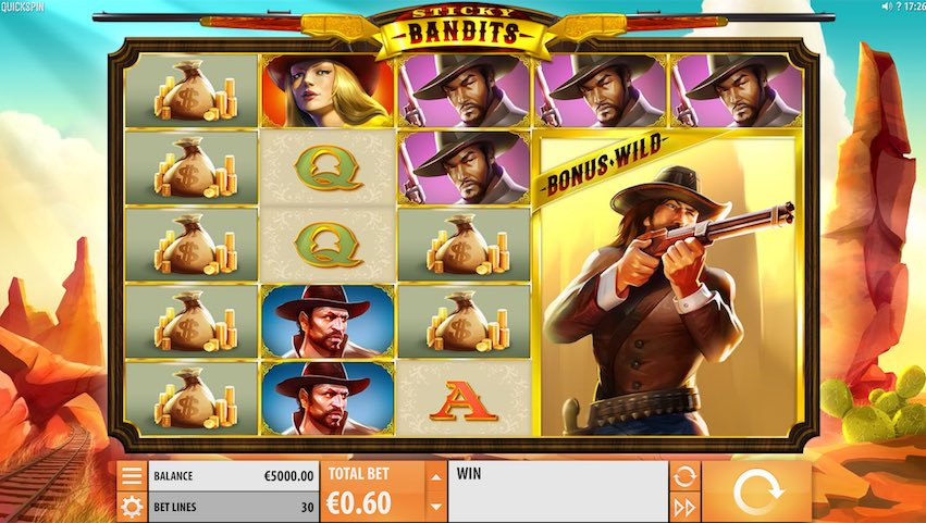 Sticky Bandits Slot by Quickspin