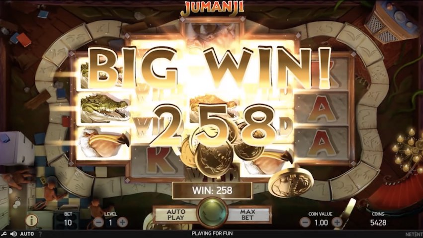 Jumanji™ Slot Big Win
