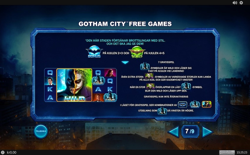 The Dark Knight Slot Free Games