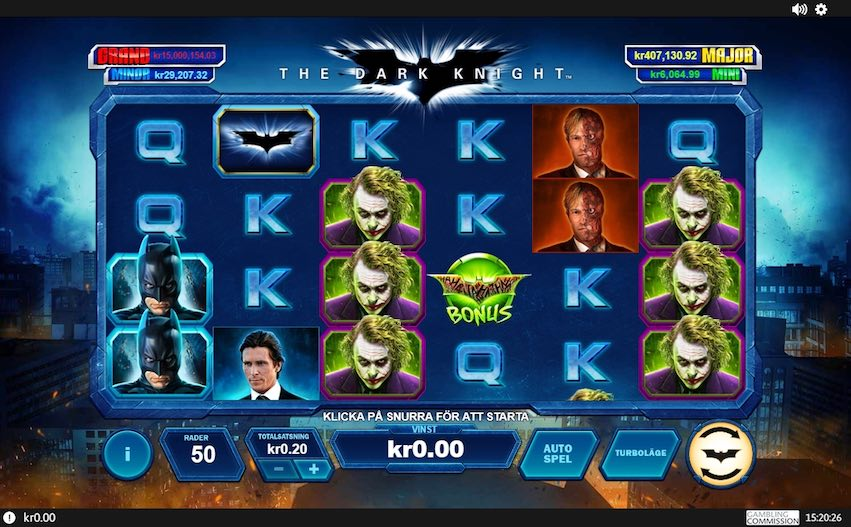 The Dark Knight Slot By Playtech