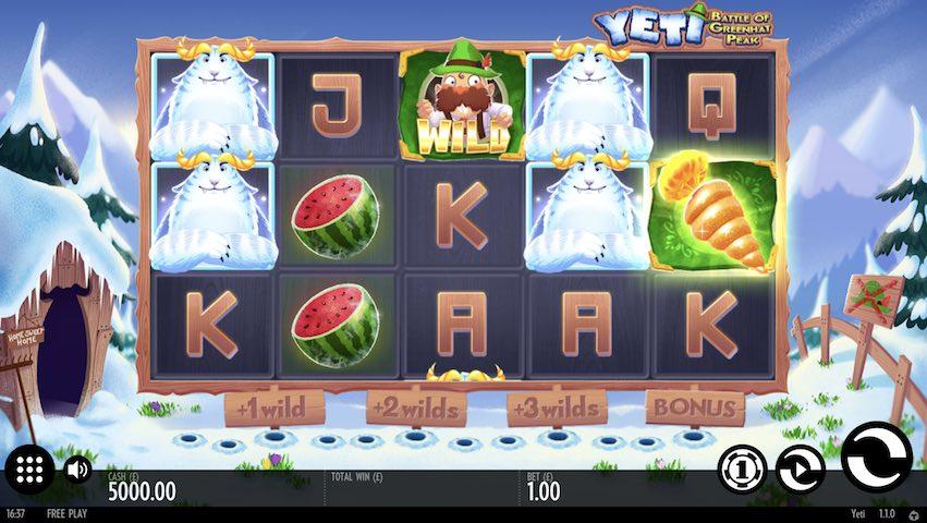 Yeti Battle of Greenhat Peak Slot Review