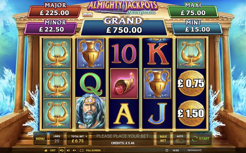 Almighty Reels – Realm of Poseidon Slot Review