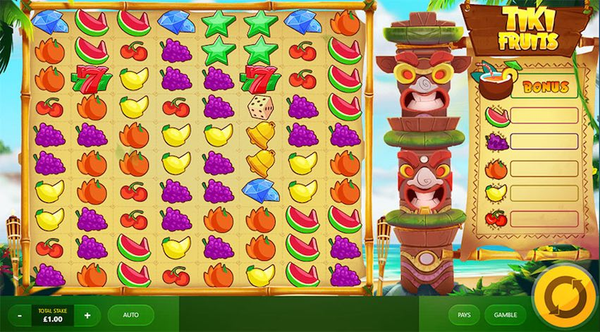 Tiki Fruits Slot by Red Tiger Gaming