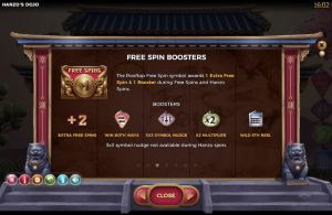 Hanzo's Dojo Slot Free Spins Boosters