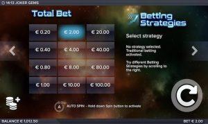 Joker Gems Betting Strategies