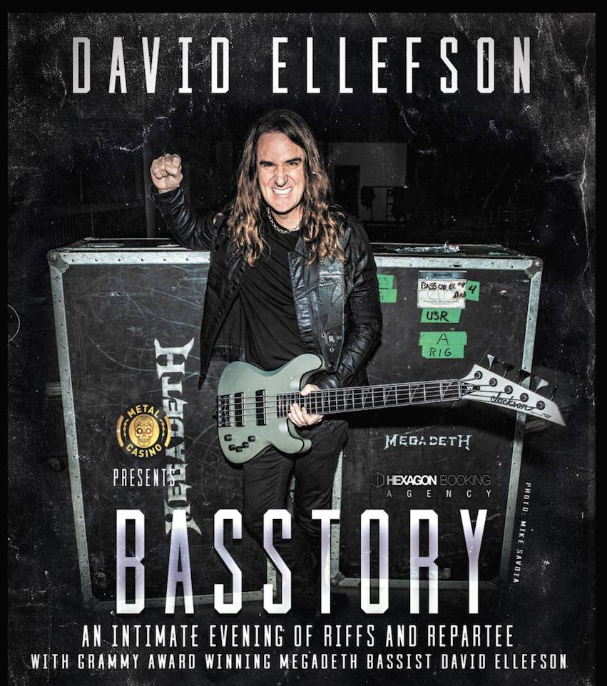 Dave Ellefson Basstory Riffs and Repartee Tour - Win Tickets with Metal Casino