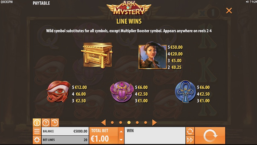 Ark of Mystery Slot Payable