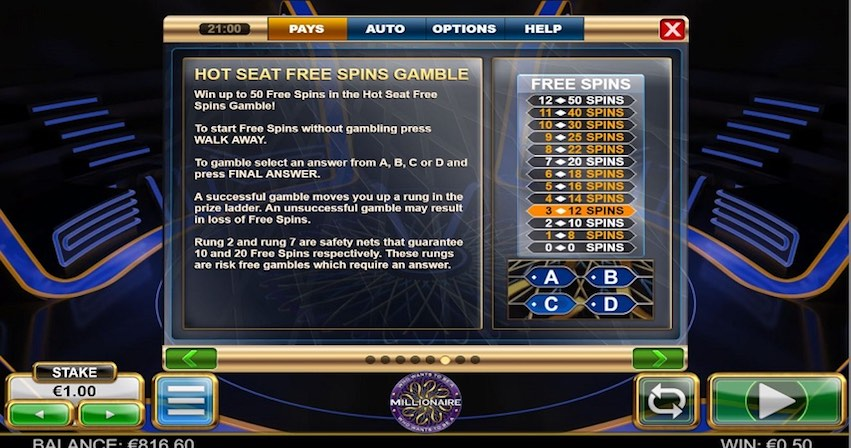 Who Wants To Be A Millionaire Slot Gamble