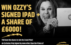 Win Ozzy's Signed iPad and £3,000 Cash At Metal Casino