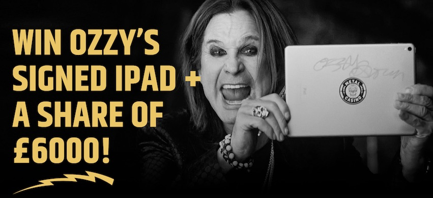 Win Ozzy's Signed iPad at Metal Casino