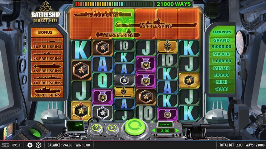 Battleship Direct Hit! Slot