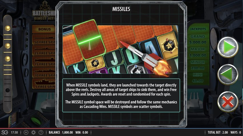 Missiles Take Down Ships To Win Free Spins