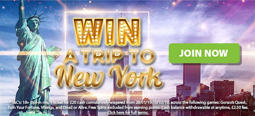 Play NetEnt Games and Win a Trip to New York at BGO.com