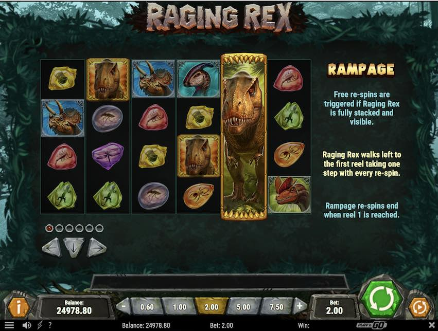 Raging Rex Slot Payable