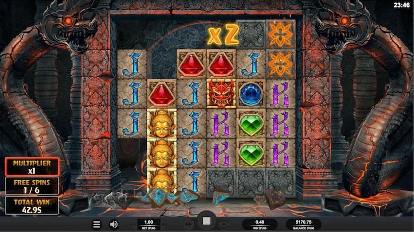 Temple Tumble Slot Bonus Round