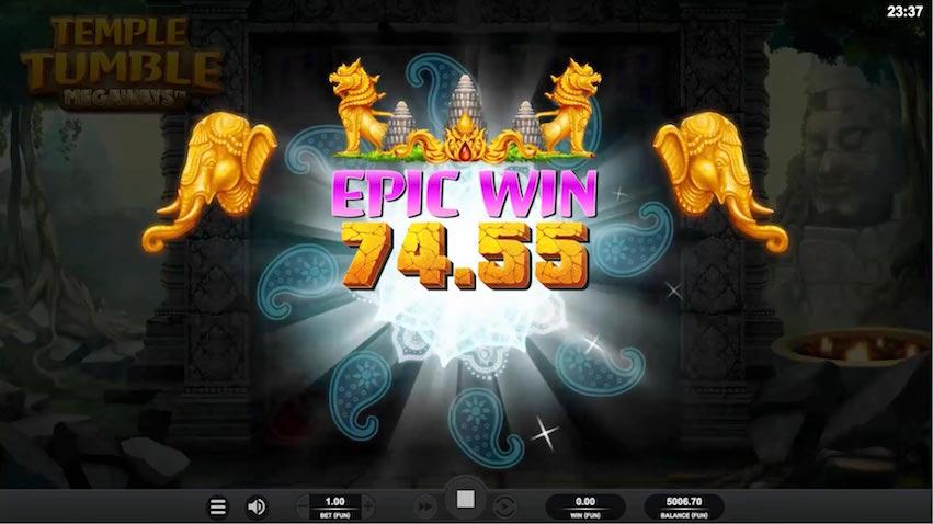 Temple Tumble Slot Epic Win