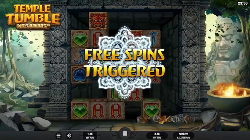 Temple Tumble Slot Free Spins Trigger