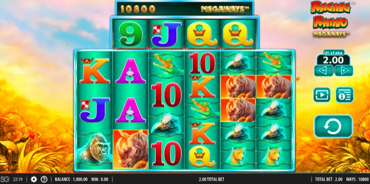 Raging Rhino Megaways™ Slot Review