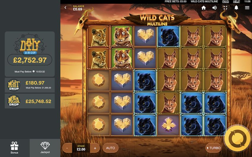 Wild Cats Multiline Slot Review