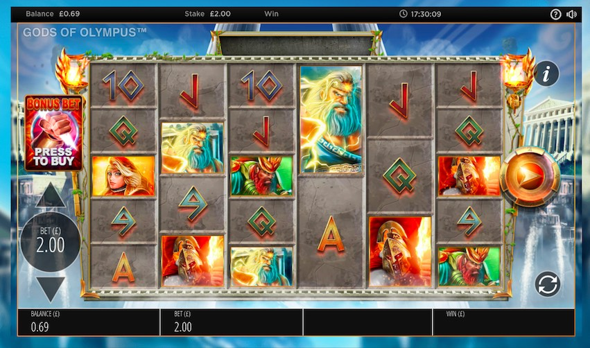 Gods of Olympus Megaways™ Slot Review