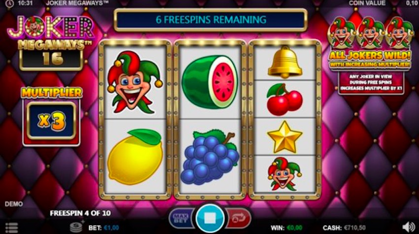 Joker Megaways™ Slot Review (96.56% RTP) Games Inc | TheSlotBuzz