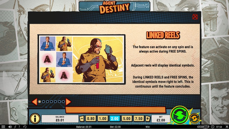 Agent Destiny Slot Paytable