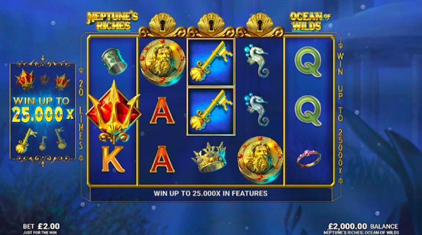 Neptune's Riches Ocean of Wilds Slot Review