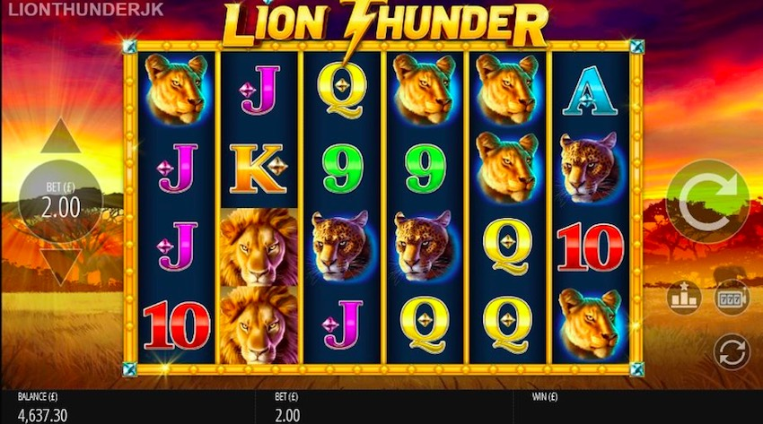 Lion Thunder Spin Boost Slot Review