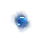 cosmic voyager symbol blue planets