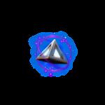 cosmic voyager symbol blue pyramids