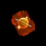 cosmic voyager symbol orange planets