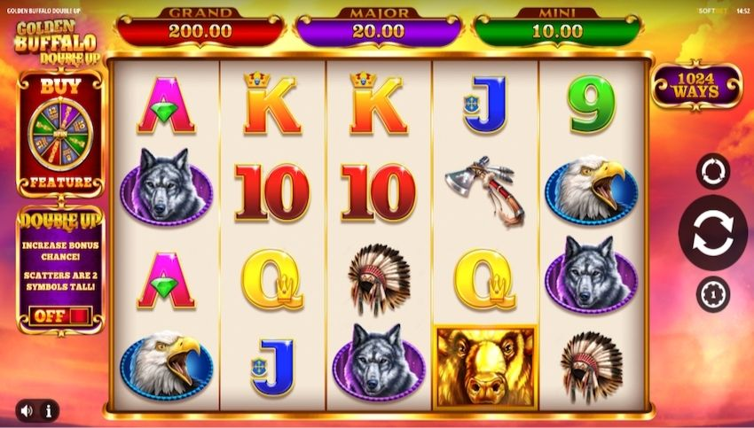 Golden Buffalo Double Up Slot Review Slot Review