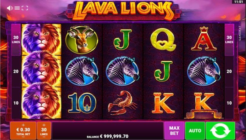 Lava Lions Slot Review