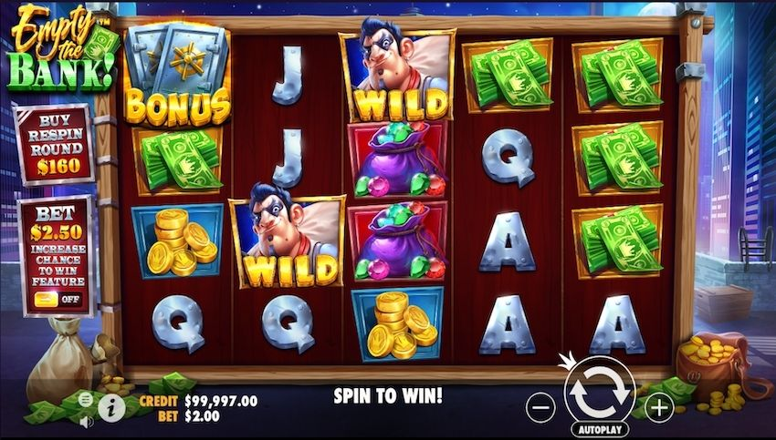 Empty the Bank Slot Review