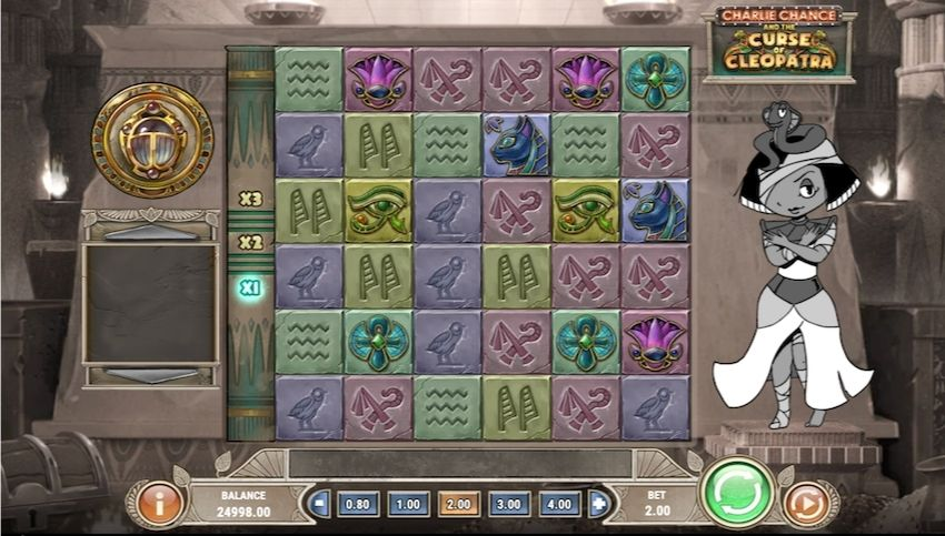 Charlie Chance and the Curse of Cleopatra Slot Review